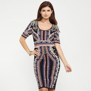 Printed Bodycon Sweater Dress
